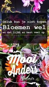 geluk kun je niet kopen bloemen wel mooi anders
