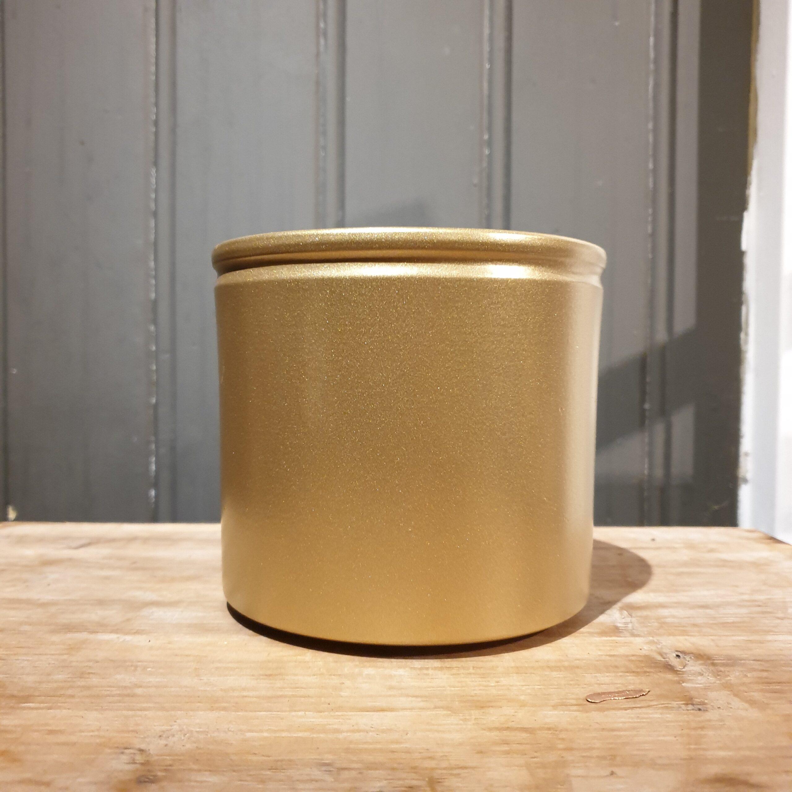 Pot basic met Rand Goud 12 cm