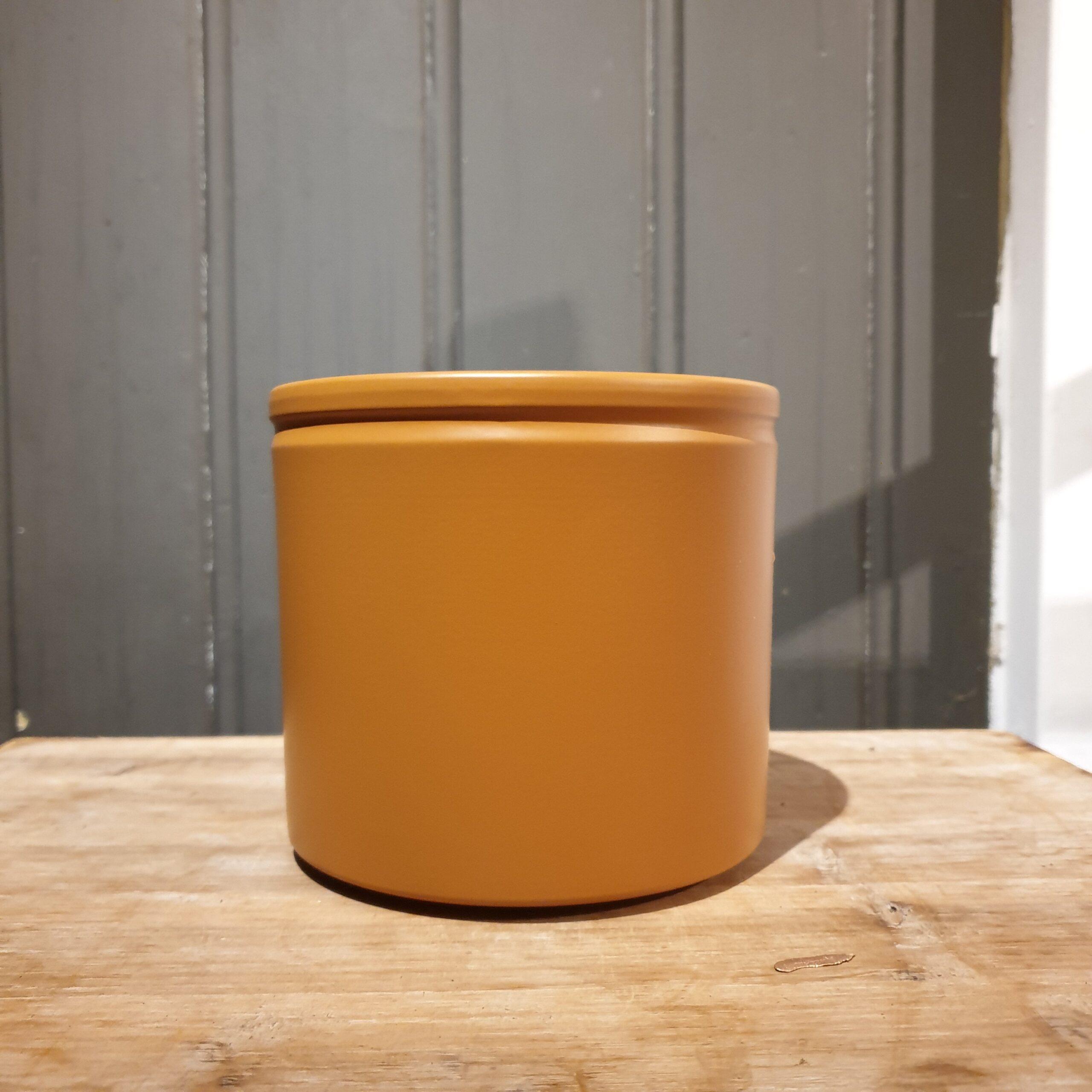 Pot basic met Rand Oker Geel 12 cm